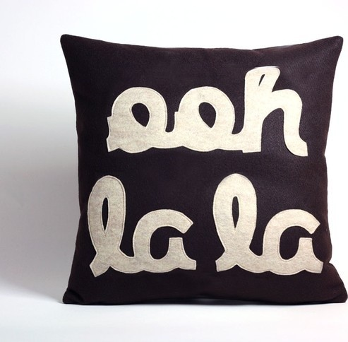 Ooh La La Pillow by Alexandra Ferguson contemporary pillows