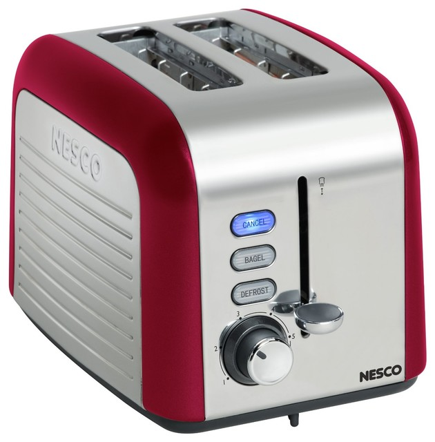 Nesco 2 Slice Toaster Red contemporary-toasters