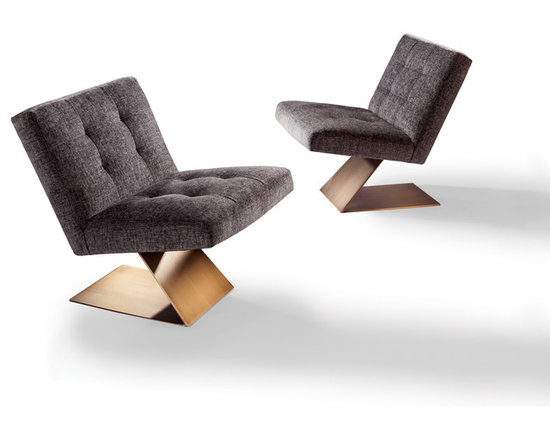 Z Armless Lounge Chair by Milo Baughman from Thayer Coggin - Thayer Coggin, Inc.