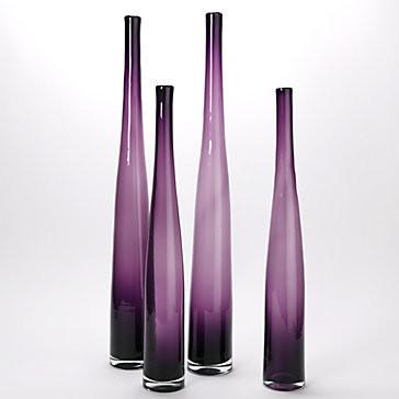 Lithe Aubergine Vase modern-vases
