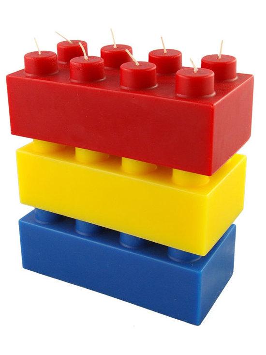 Building Brick Candles -