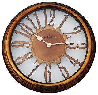 Wall Clock With Copper Finish : Target - Transitional ...