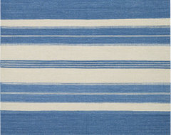 Puhalo Stripe Faded Azul Rugs contemporary rugs