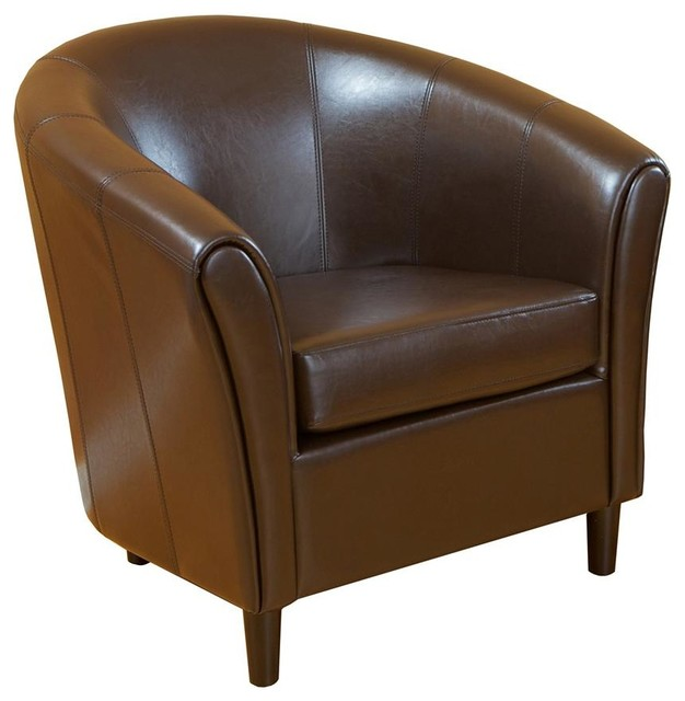 Napoli Club Chair w Rounded Edge contemporary-accent-chairs