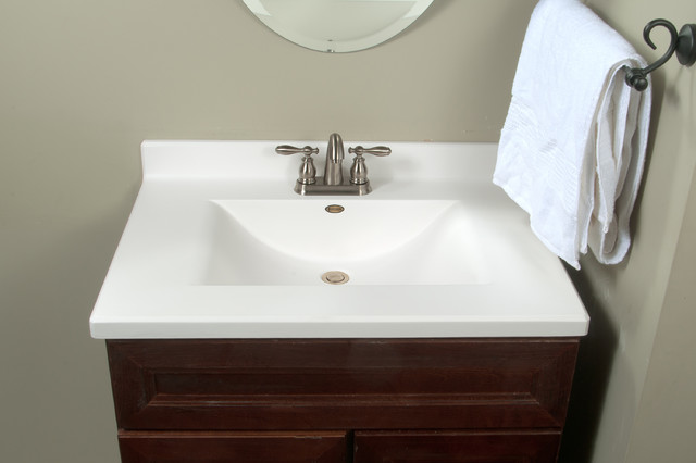 Imperial Satin Stone Vanity Top Modern Tops And Side