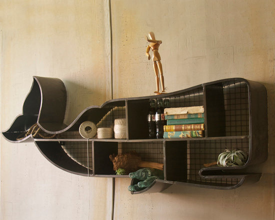 """Whale Cubby Wall Shelf - These unique, hand-crafted accessories are imported from small cottage industries in Colombia, Honduras, Haiti, Morocco, and more. Dimensions: 60""""w x 8""""d x 19""""h"""