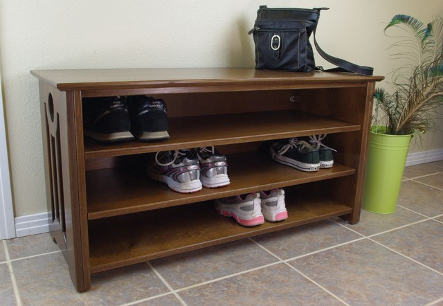 Mac Shoe Boot Storage Bench Contemporary Accent And Storage Benches San Diego By Woodistry
