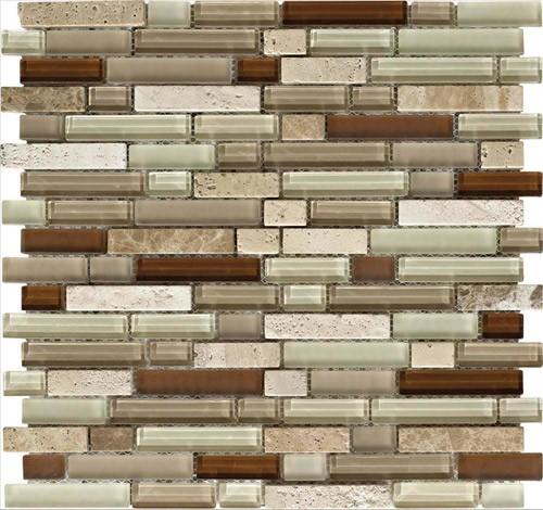 Stone Medley | Travertino Mix Light / Dark (staggered) tile