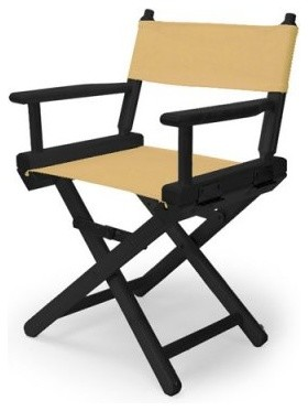 14 in. Curry Child's Canvas Directors Chair - Black Frame modern-kids-chairs