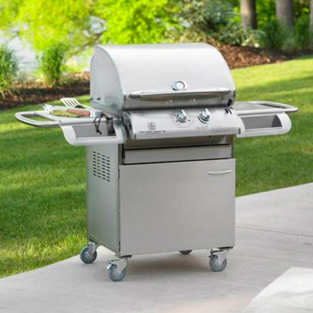 24 Inch Legacy Cook Number 24C Gas Grill with Deluxe Cabinet - LG24C contemporary-outdoor-grills