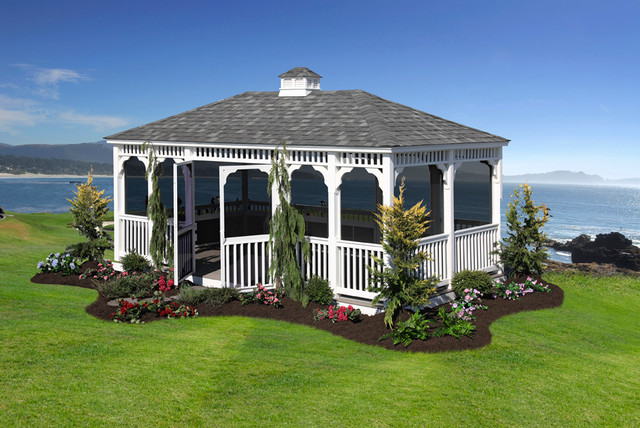 Rectangle Classic Gazebo Traditional Other Metro By