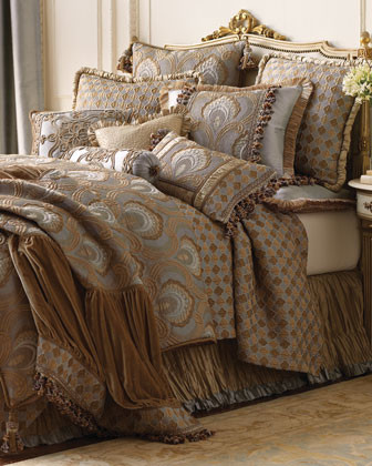 Dian Austin Couture Home Prague Palace Bed Linens Tile-Patterned European Sham w traditional-shams