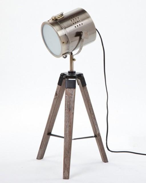 Contemporary Tripod Camera Table Lamp Interior Light