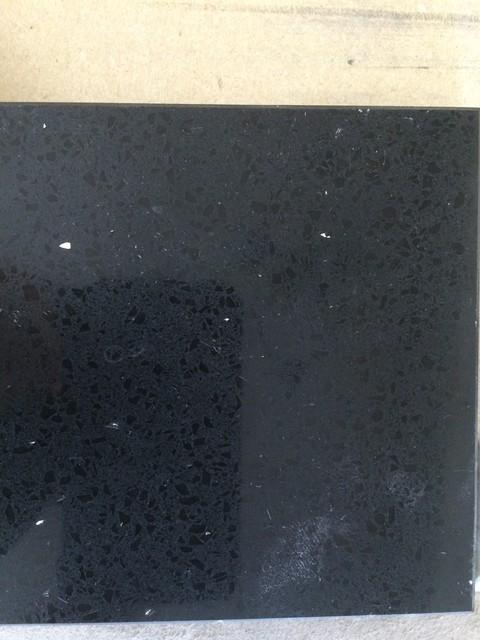 Hanstone Obsidian Black Quartz Kitchen Countertops New York By Adria Marble And Granite