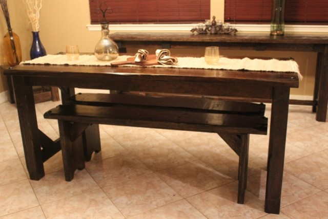 Medieval Collection Breakfast Table - rustic - dining benches