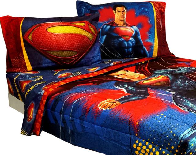 Superman Full Bedding Set Super Steel Comforter Sheets ...