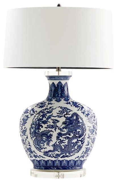 Arteriors Home Dragon Lamp - Asian - Table Lamps - by Seldens Furniture