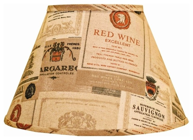 Themed Wine Labels Empire Lamp Shade 9x16x12 (Spider) contemporary-lamp-shades