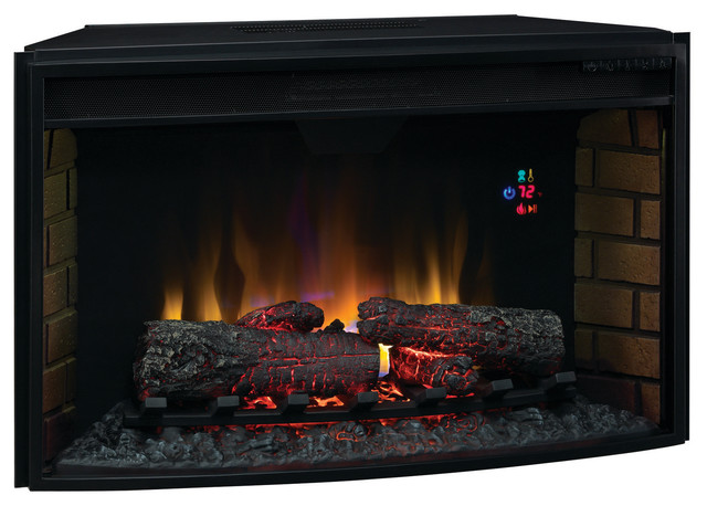Classicflame 32 In Spectrafire Curved Electric Fireplace Insert 32ef023gra Modern Indoor