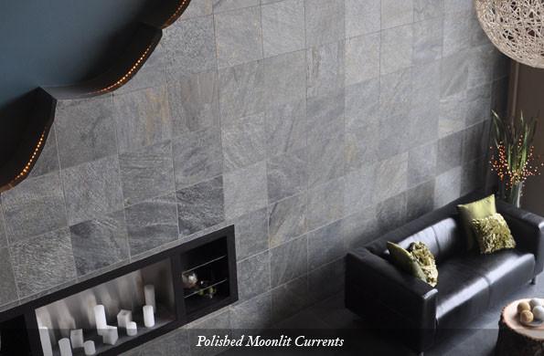 American Slate Polished Moonlit Currents eclectic-floor-tiles