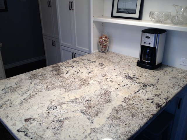 Arctic Cream Granite On Cabinets Contemporary