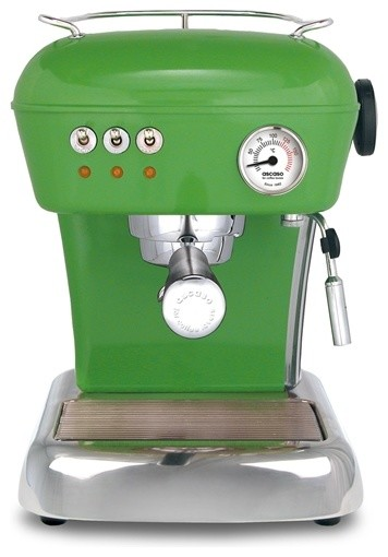 Ascaso Dream UP 2 Versatile Espresso Machine, Anthracite Grey, Meadow Green midcentury-coffee-makers-and-tea-kettles