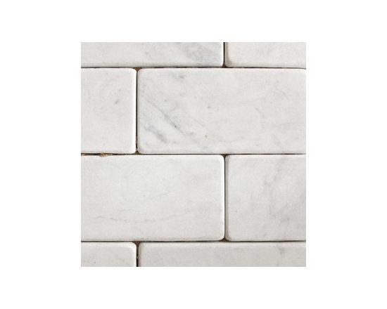 "3""x6"" Carrara Big Brick Natural Stone Mosaic -"