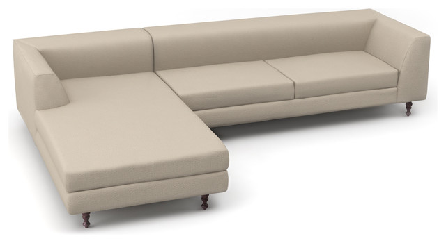 Dekayess Chaise Left Sectional Custom modern sectional sofas los angeles