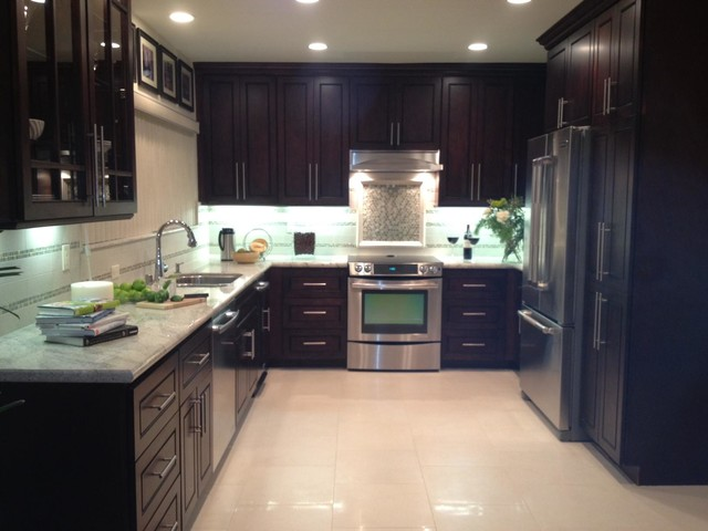 Chocolate Door Style Kitchen  Modern  Kitchen Cabinetry  san diego