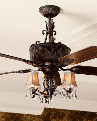 """Antoinette"" Ceiling Fan & Light Kit traditional-ceiling-fans"