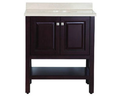 St. Paul Bombay Vanity in Chocolate traditional bathroom vanities and sink consoles