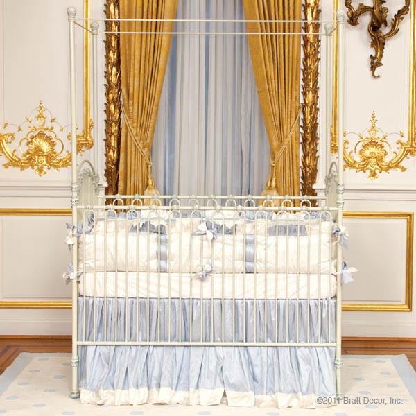 Venetian Iron Crib in Antique White by Bratt Decor traditional-cribs