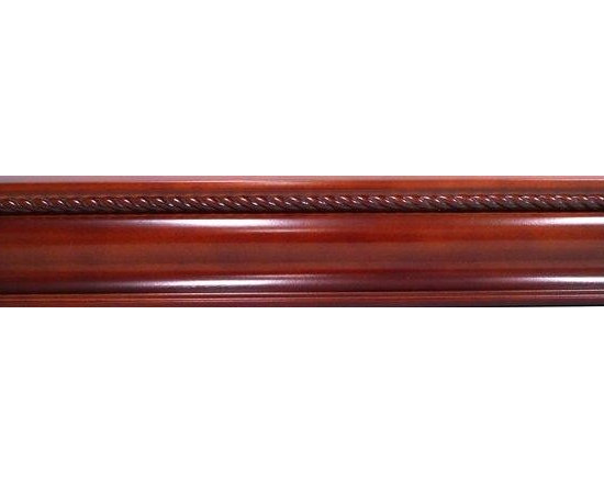 "O'Neil Cherry Crown Molding with Rope - O'NEIL CHERRY CROWN MOLDING 96""L WITH ROPE DECOR."