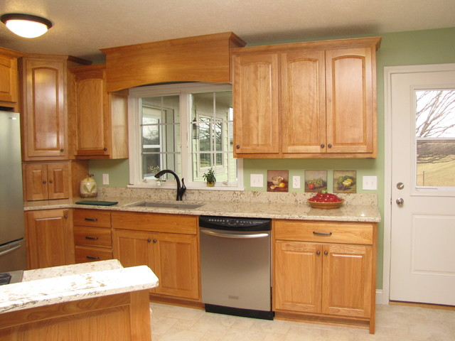 Meyers Beautiful Red Birch Kitchen - Traditional - Kitchen Cabinetry - other metro - by Kustom ...