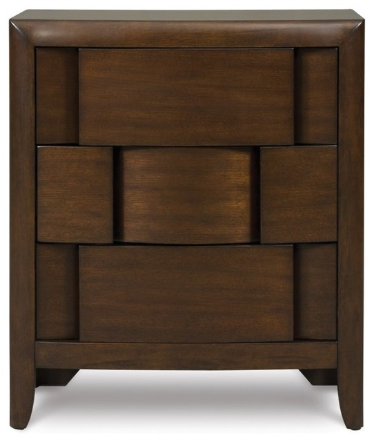 twilight 3 drawer nightstand modern nightstands and