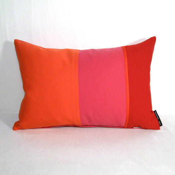 Modern Red Pillows : Melon, Red, Pink Outdoor Pillow Cover by Mazizmuse - Modern - Decorative Pillows - by Etsy