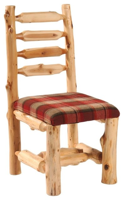 Cedar Upholstered Log Side Chair (White Pine - Traditional - Dining Chairs - by ivgStores