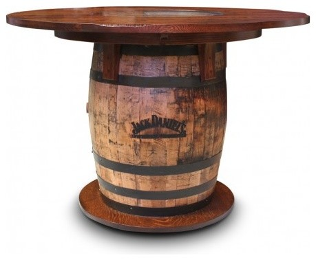 Gallery Furniture USA Whiskey Barrel Pub Table Rustic