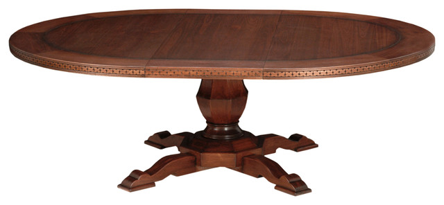 60 Inch Siena Round Extension Dining Table Traditional