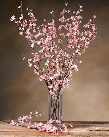 Silk Cherry Blossoms asian-artificial-flowers-plants-and-trees