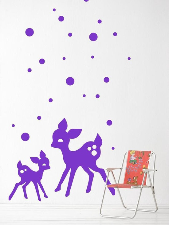 Ferm Living My Deer WallSticker - With Ferm Living WallStickers it is easy to create a new look and change the style in a room in a matter of minutes.