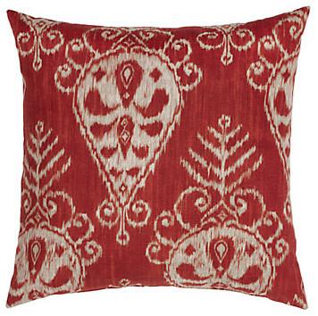 "Nasha Pillow 24"" - Ruby modern-decorative-pillows"