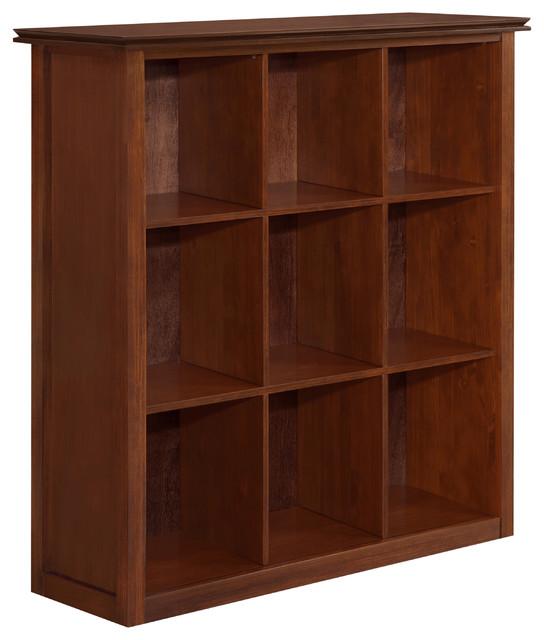 artisan 44 inch wide x 46 inch high nine cube bookcase