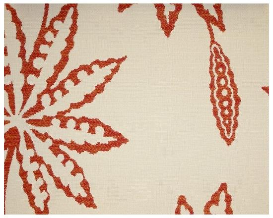 Rust Stone Floral Outdoor Fabric | Kerkyra Osborne & Little -