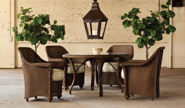Lloyd Flanders Oxford Dining Chairs eclectic-outdoor-chairs