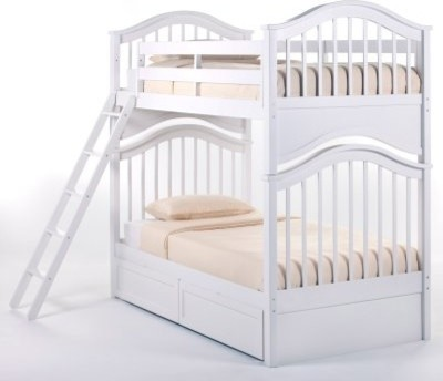 Schoolhouse Jordan Twin over Twin Bunk Bed - White modern-beds