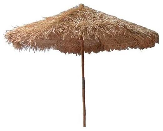 Sea Grass Thatched Umbrella Contemporary Patio