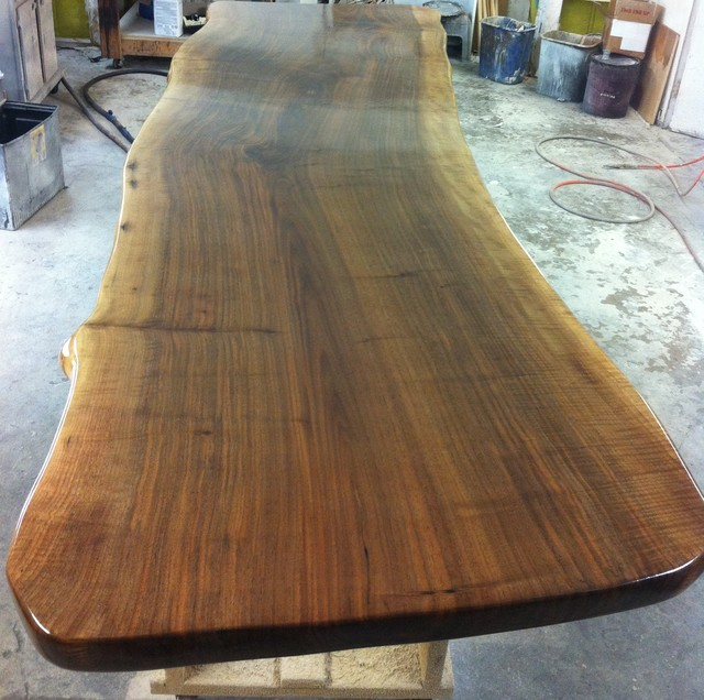 Wood slabs natural edge table tops walnut slabs for Natural edge wood countertops