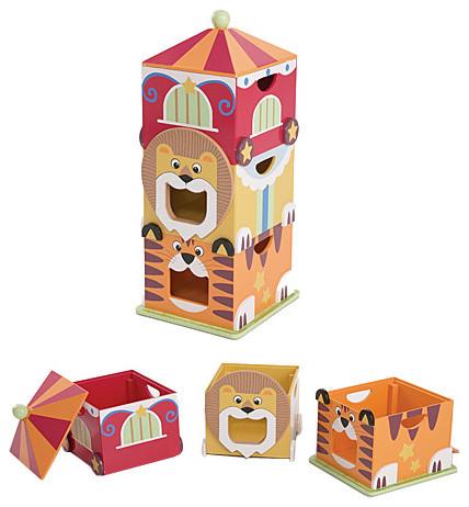 Circus Storage Boxes modern-toy-storage