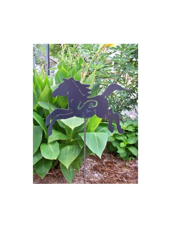 Horse , garden art, metal sculpture -